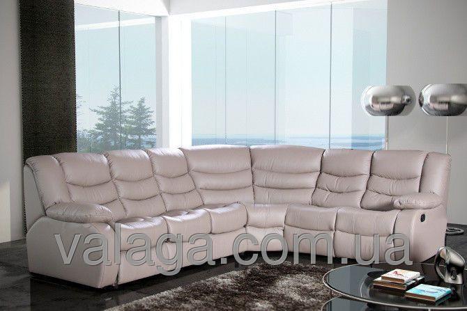 Купить Кожаный диван угловой recliner Regan