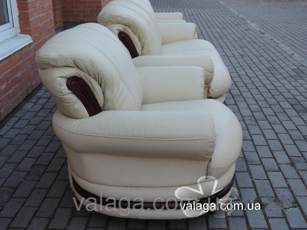 Купить Кожаный комплект диван и кресла для офиса