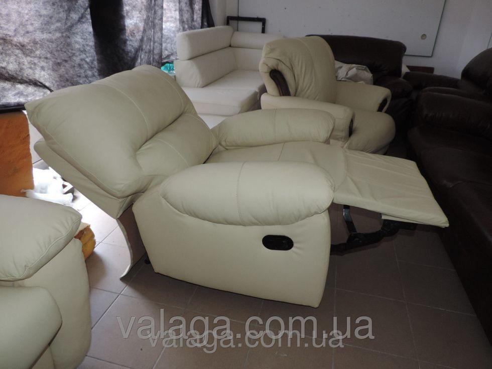 Купить Кожаный диван recliner белый раскладной