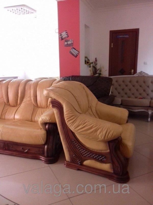Купить Кожаный диван и 2 кресла Leon