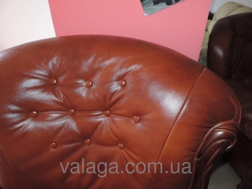 Купить Кожаный комплект мебели Hilton коричневый