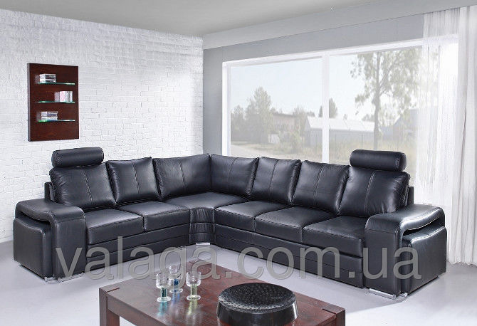 Купить Шкіряний кутовий диван Enzo чорний