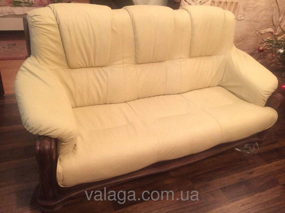 Купить Кожаный диван на дубе Kasia