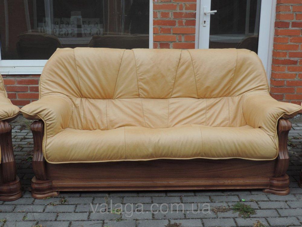 Купить Кожаный диван на дубе