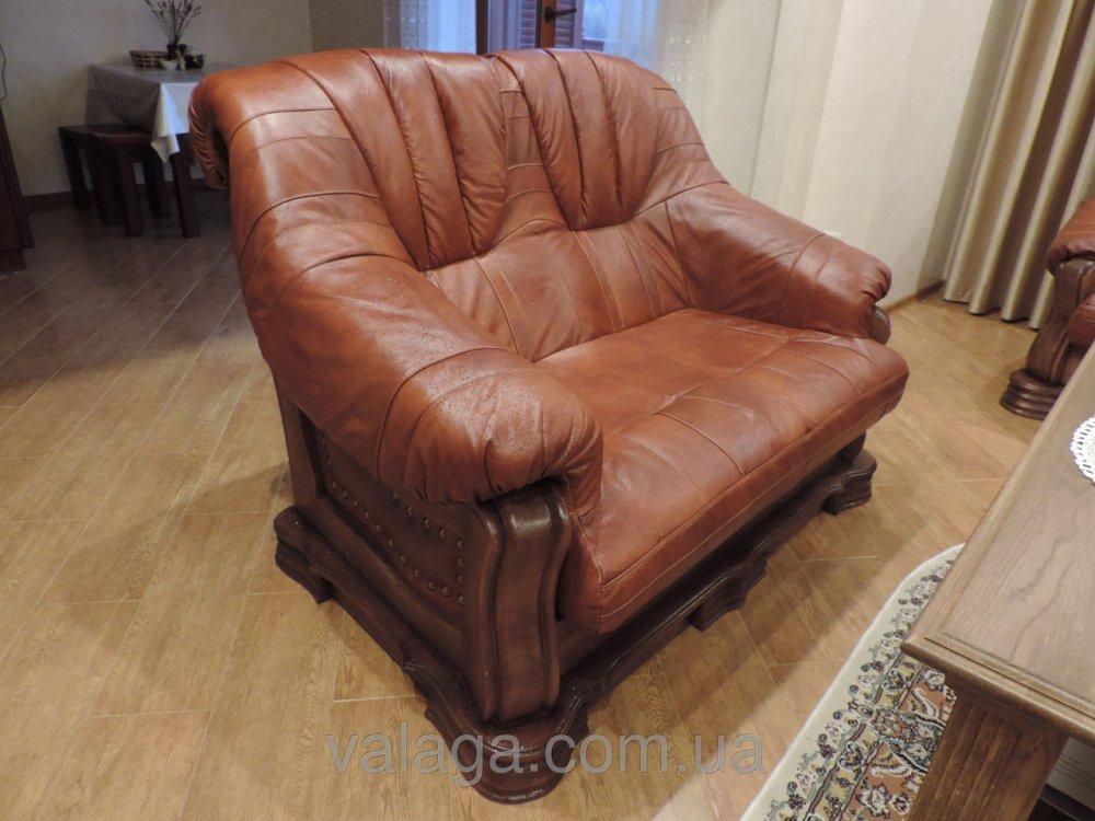 Купить Кожаный диван и кресла на дубе Boss