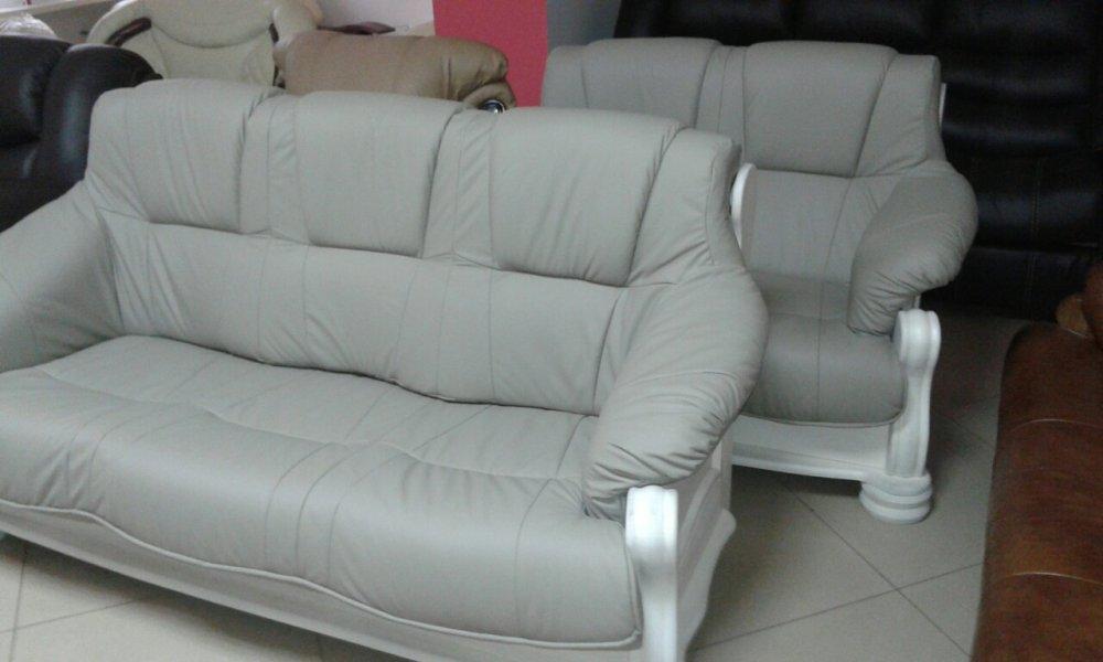 Купить Кожаный диван и кресла на дубе Katrin