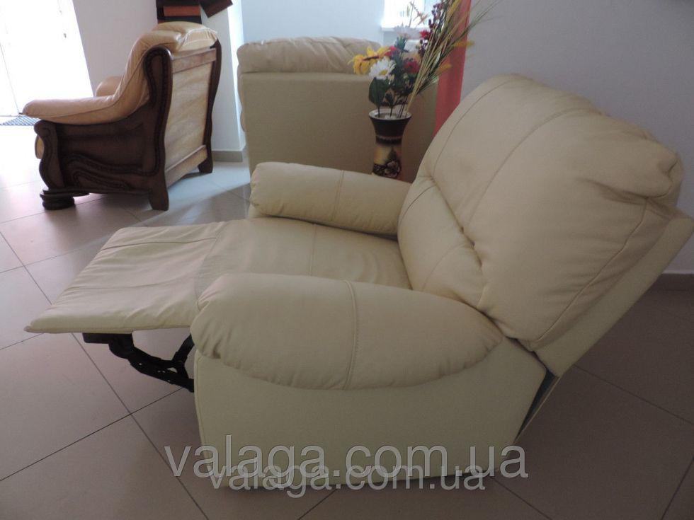 Купить Кожаный диван релакс белый