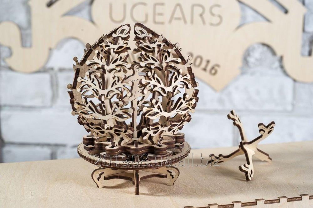 "Mechanical wooden designer, 3D puzzle of Ugears ""Mechanical Flower"""