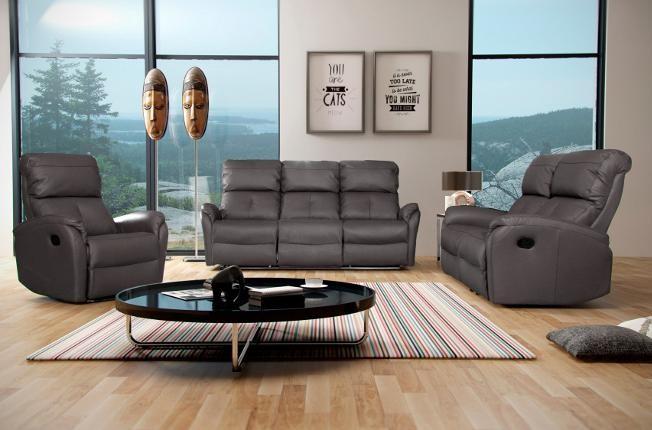 Купить Кожаный комплект диван и кресла реклайнер,recliner