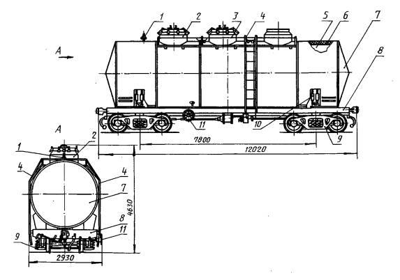 Цистерны модели 15-1576 (ЖАЦ-44) б/у для перевозки различных химических грузов