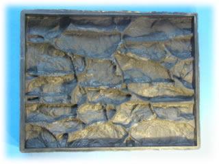 """Купить Резиновая форма для изготовления строительных плит для внешней и внутренней отделки строений """"Дикий камень"""""""