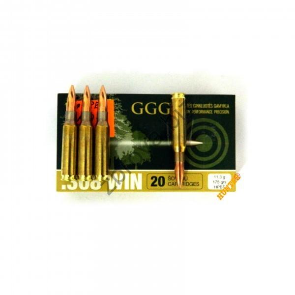Купить Патрон GGG .308 WIN 175 g. НРВТ