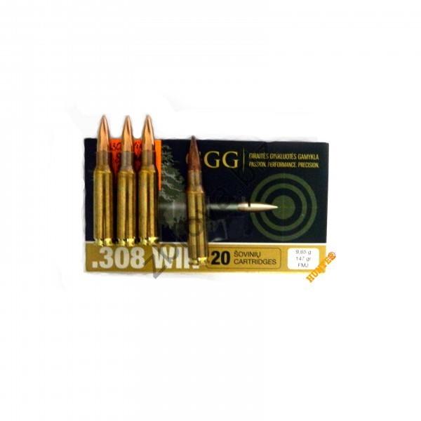 Купить Патрон GGG k.308win FMJ 147gr.