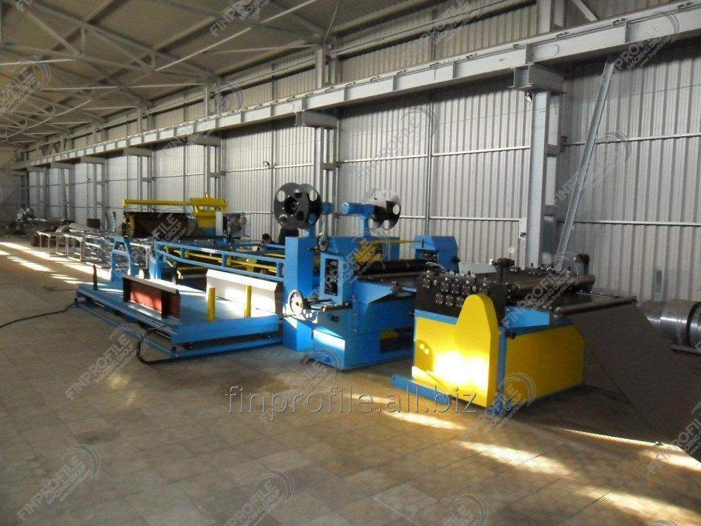 Line of cross cutting of rolled steel