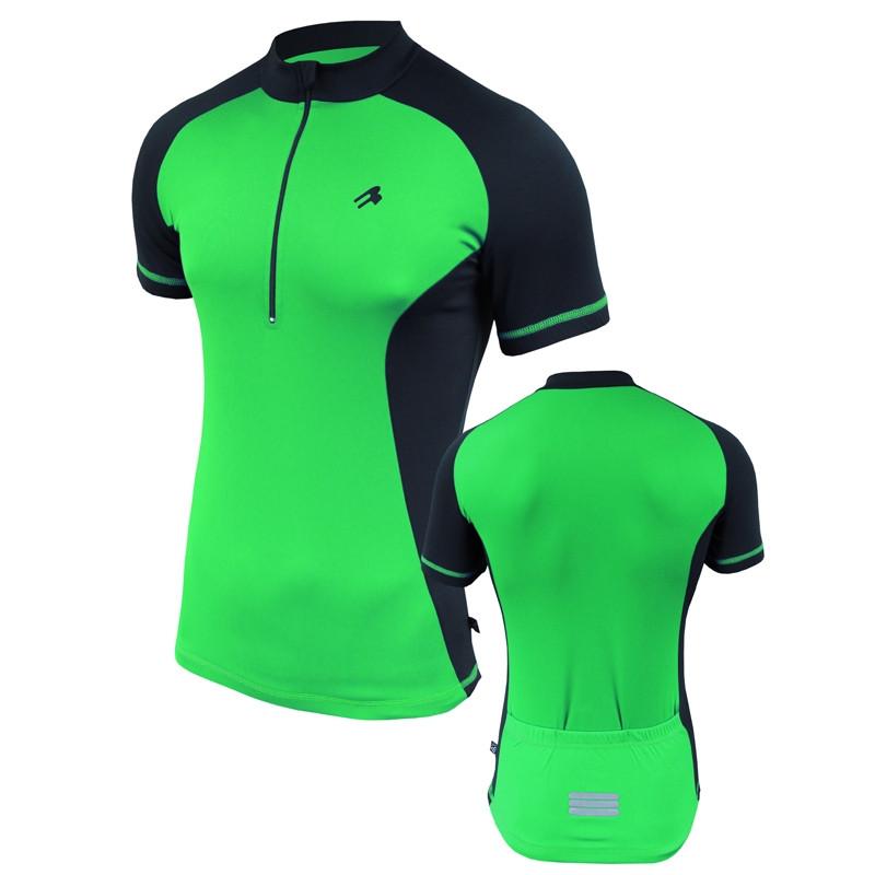 Велофутболка мужская с карманами Radical Racer SX зеленая