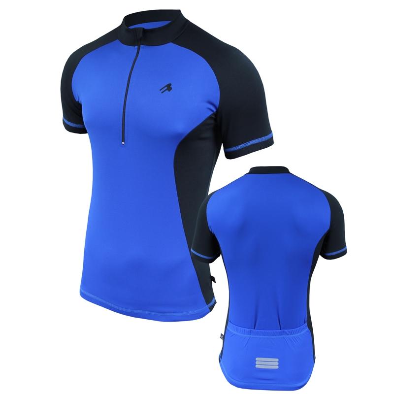 Велофутболка мужская с карманами Radical Racer SX синяя
