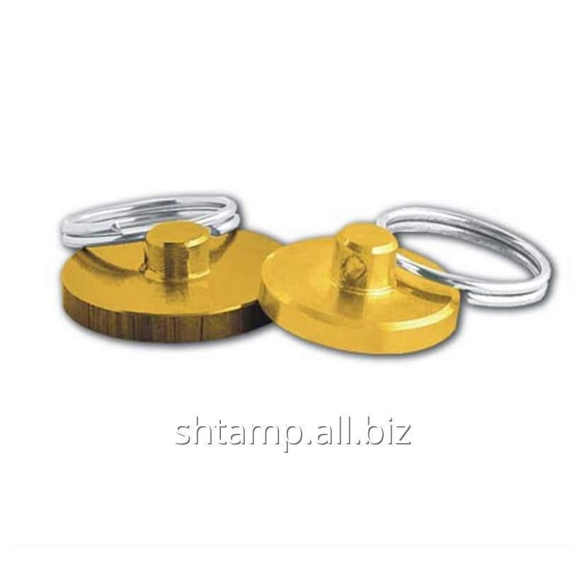 Печать для опечатывания под сургуч (латунь, алюминий) диаметр 40 мм