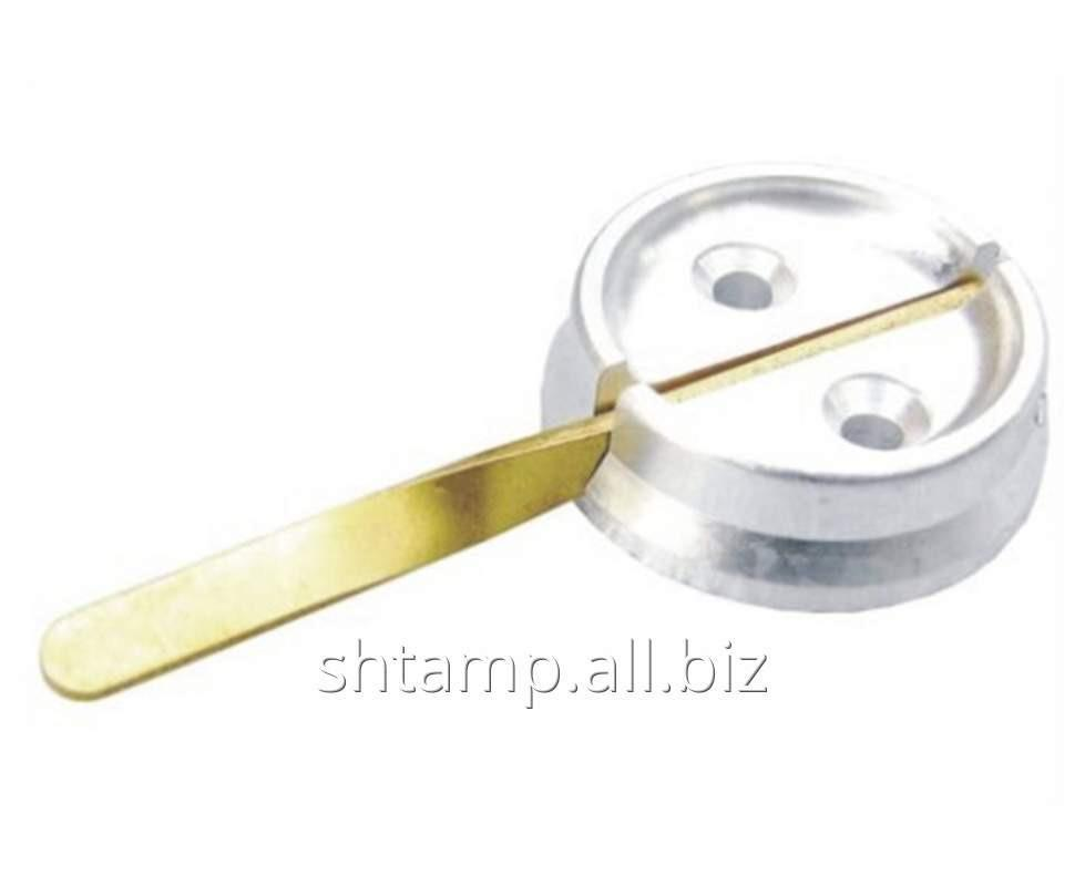 Купить Печать под пластилин (латунь, алюминий) диаметр 25 мм