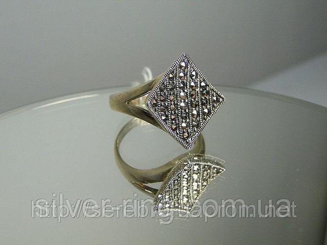 Перстень из капельного серебра 0046К