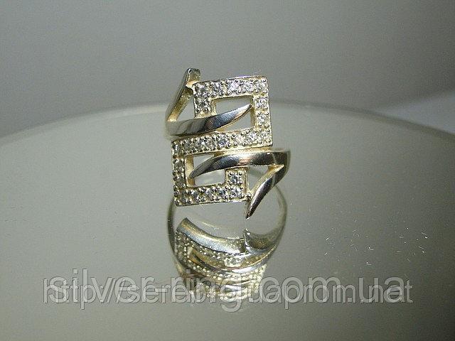 Серебряное кольцо с фианитами 0016К