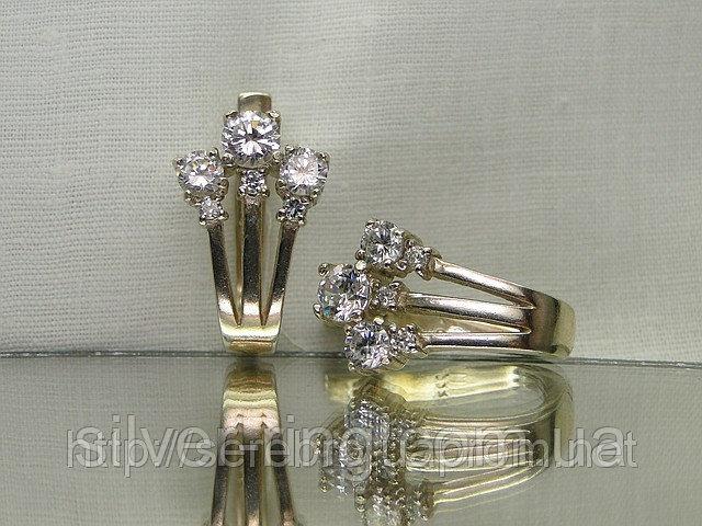 Серьги серебряные с кубическим цирконием 0054С