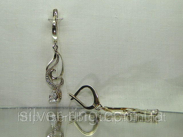 Серебряные женские серьги 0048С