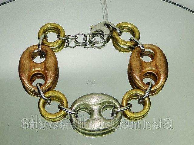 Стильный серебряный браслет 0085Б