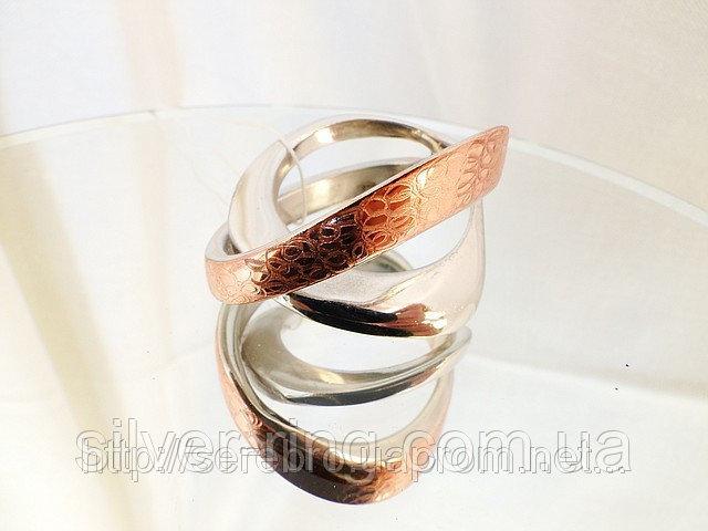 Необычное женское кольцо с позолотой 0012К