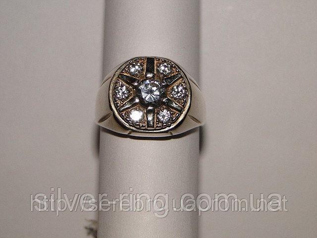 Кольцо из серебра с кубическим цирконом 0061К