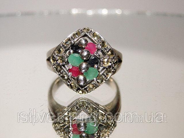 Перстень из капельного серебра 0065К