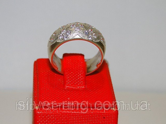 Кольцо с мелкими цирконами 0069К