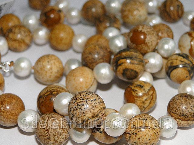 Набор для женщин из яшмы и жемчуга 0022