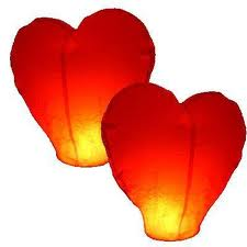 Buy The flying small lamps in the form of heart.