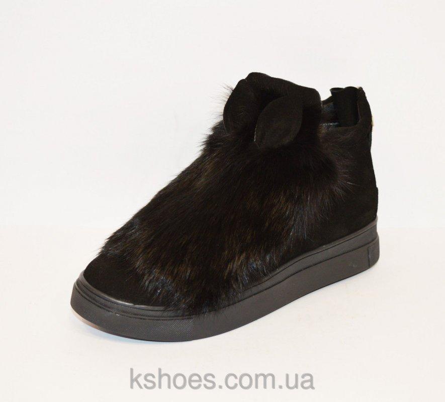 Купить Черные ботинки с мехом сверху Kluchini 2096
