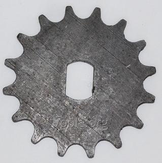Звездочка (z=16, t=12,7) вала высевающего диска. Н 126.13.402
