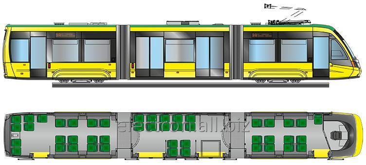 Купить Трехсекционный трамвай T3B44 Электрон