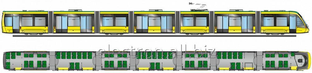 Купить Семисекционный трамвай T7B86 Электрон