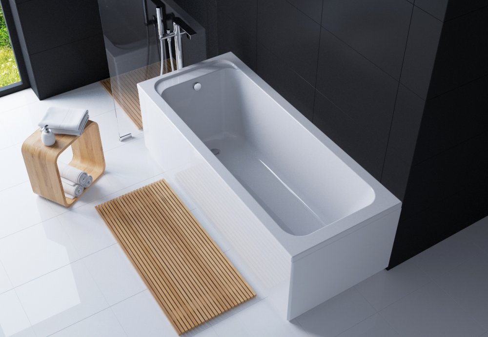 Acrylic Rectangular Bathtub Of Alba 170*70 TM EGO