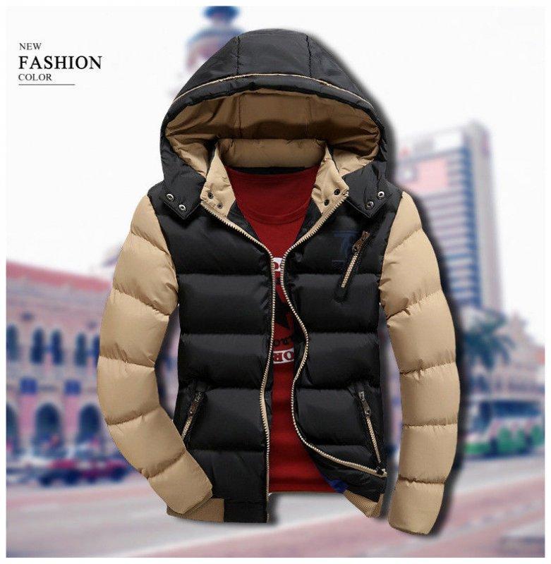 3bca009e54347 Мужской зимний пуховик, мужская стильная куртка, модель 0335 черный ...