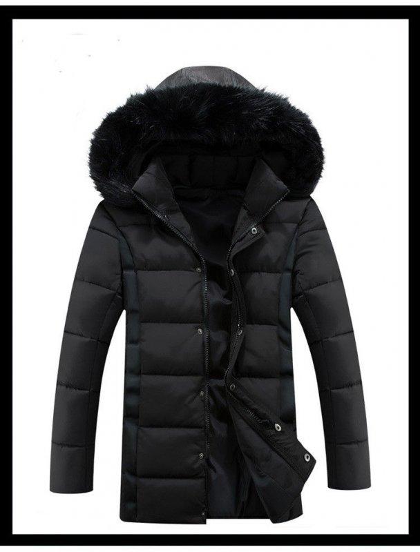 196204d11b2f0 Мужской зимний пуховик куртка, модель 726 черный купить в Днепр