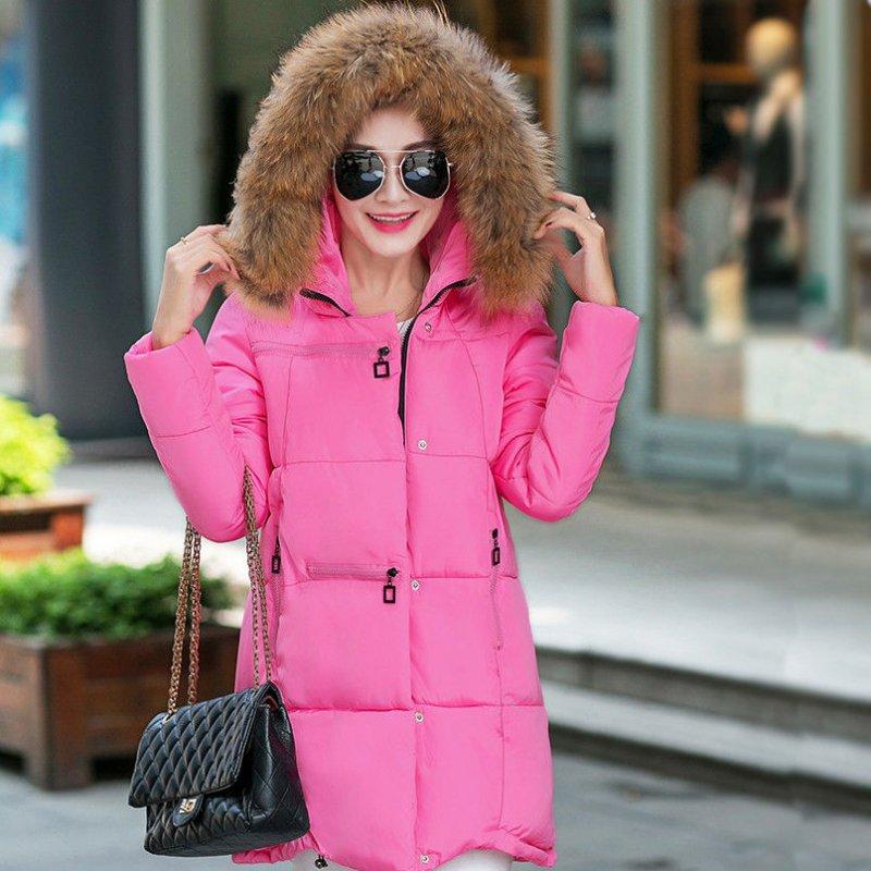 Купить Женский стильный пуховик. Модель 856 розовый