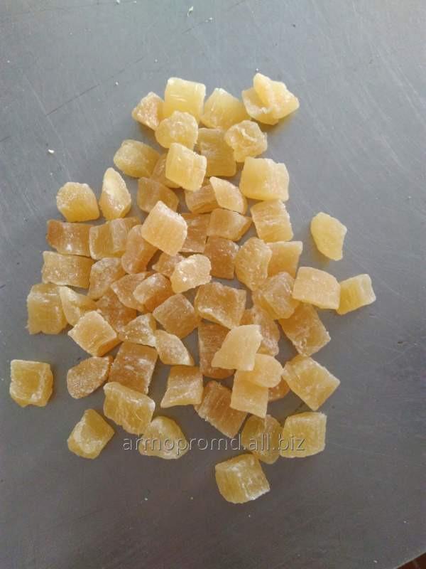 Купить Ананас сушеный резаный калибр от 3 мм. до 10 мм