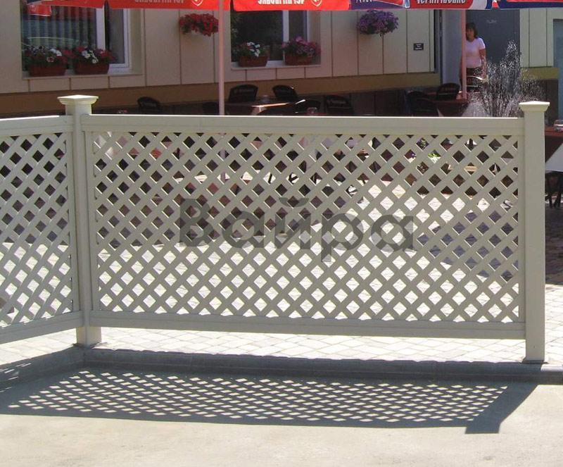 Забор из металлической решетки 74