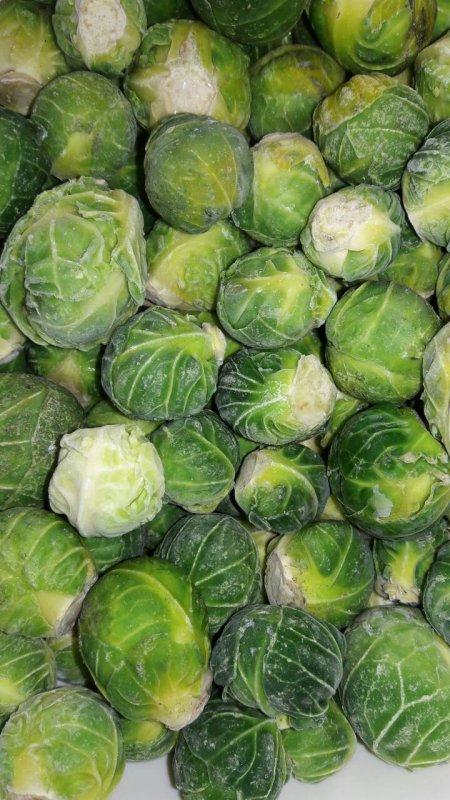 The Brussels sprout frozen