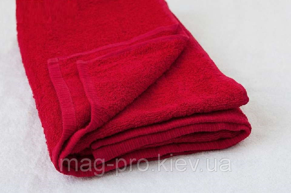 Купить Полотенце красное Турция 70х140 плотность 420 код 25012