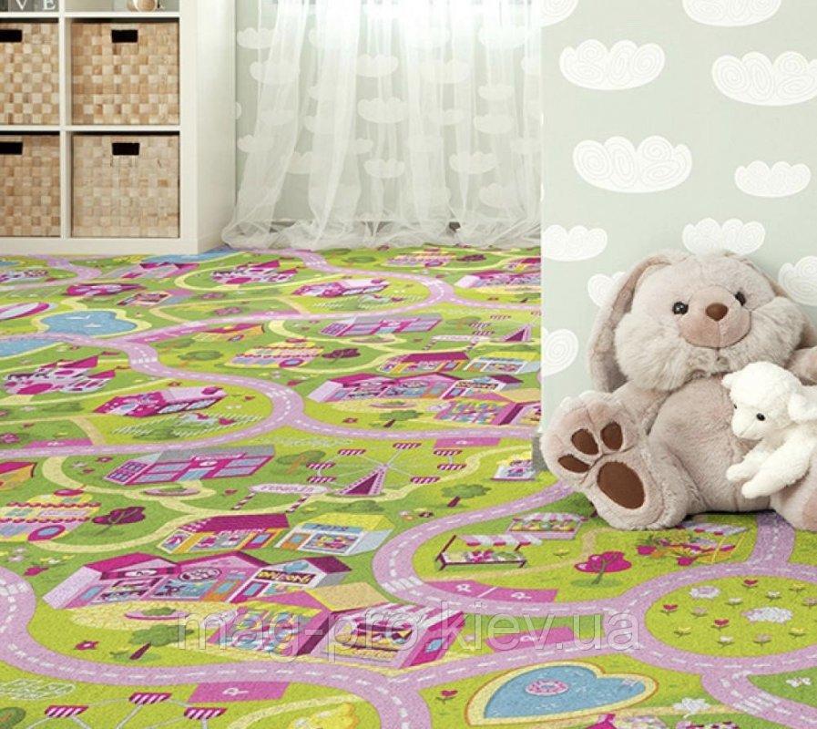 Купить Детский ковролин Домик Барби - милый город (для девочек) код 1566