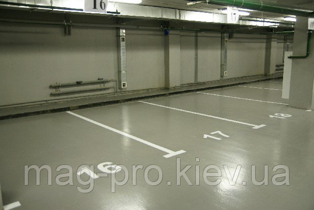Купить Полиуретановые наливные полы для гаража и паркинга