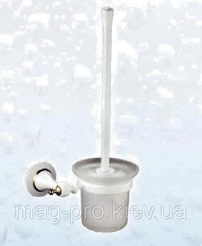 Купить Ёршик настенный белый и хром код 6994