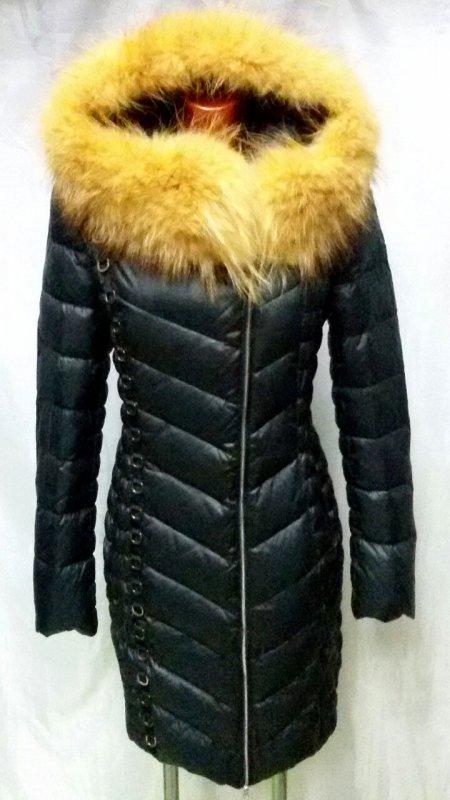 Зимние женские пуховики Sooyt 2016 Black Оригинал с натуральным енотом. пуховики  женские 2017 3b7fcc05f1152