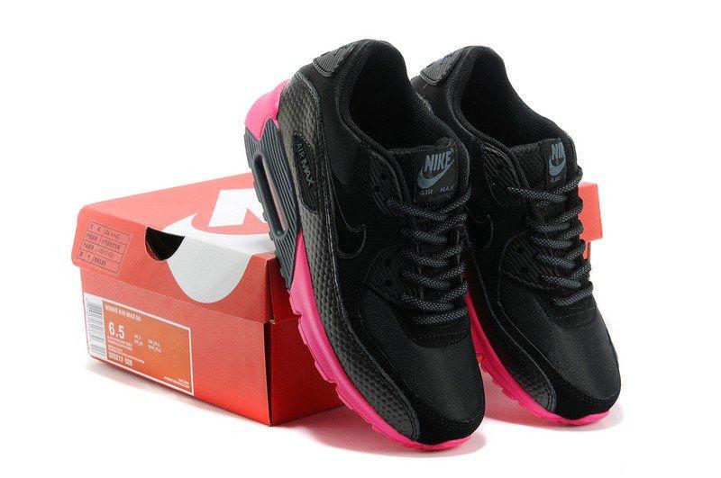 d90a6171 Кроссовки Nike Air Max 90 Premium Black Pink Оригинальные женские кроссовки  найк